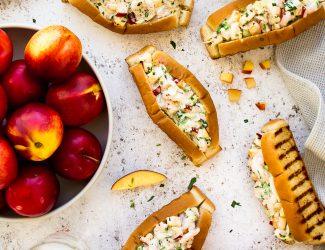 Guédilles crevettes fruits à noyau HR
